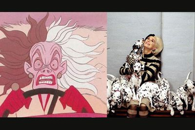 That most vile of Disney villains, Cruella de Vil, has terrorised poor young pups to try get their fur since the first Dalmatian classic in 1961, right through to the live-action incarnations starring a positively eeeee-vil Glenn Close in 1996 and 2000.