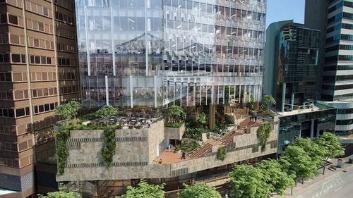 The new park will be nestled between skyscrapers on Queens Street. (9NEWS)