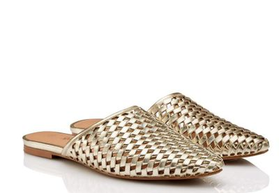 "<p><a href=""http://www.sportsgirl.com.au/shoes/flats/riley-woven-slip-on-flat-soft-gold"" target=""_blank"">Sportsgirl Riley Woven Slip on Flat, $69.95</a></p> <p><br> <br> </p>"