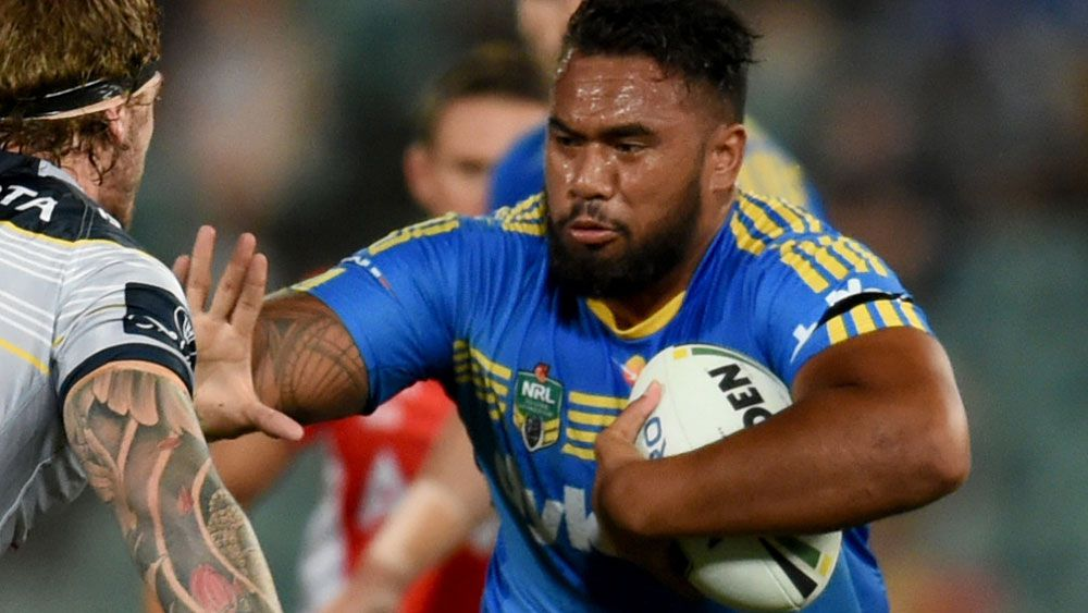Junior Paulo playing for Parramatta. (AAP)