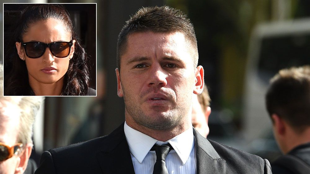 Shaun Kenny-Dowall outside the Downing Centre Court and (inset) Jessica Peris. (AAP)