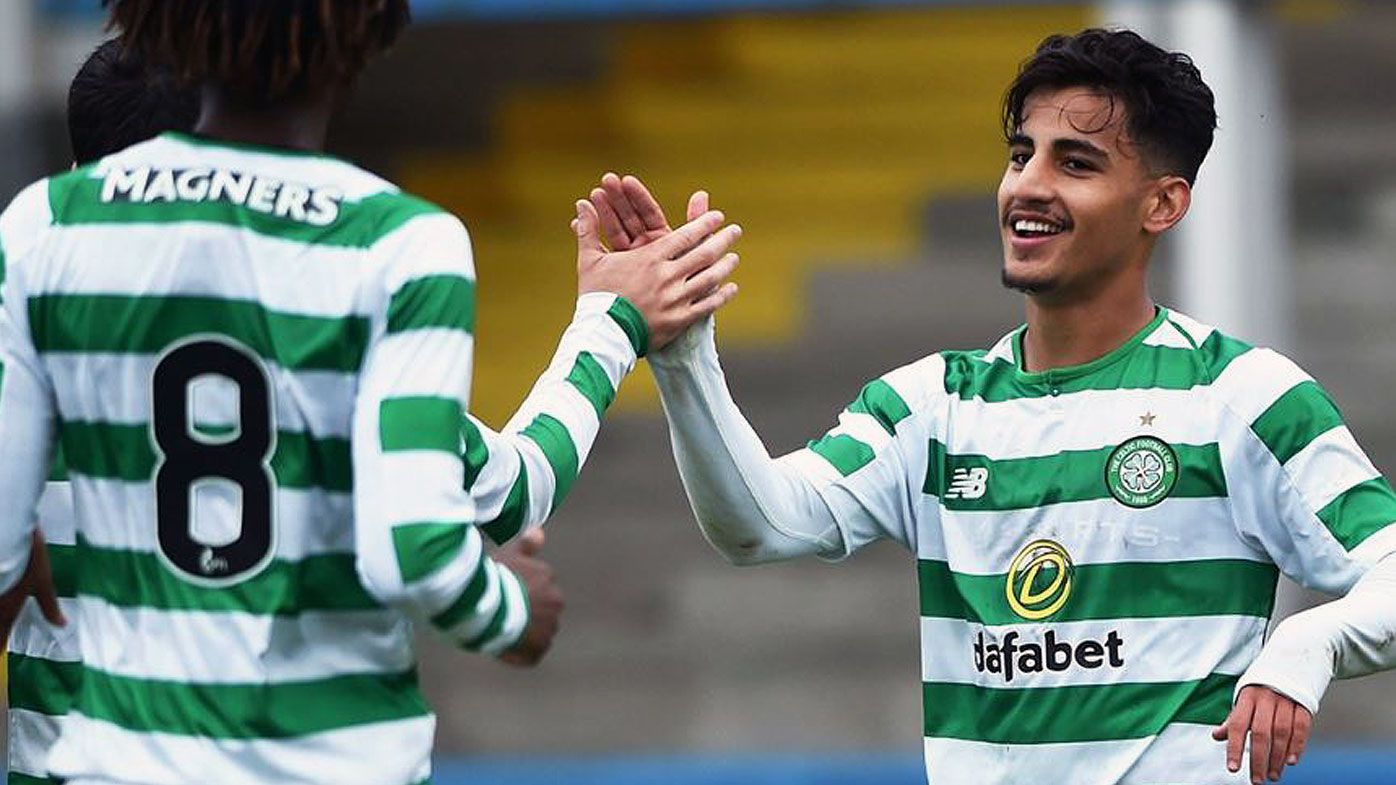 Socceroos' Daniel Arzani opens his account at Celtic
