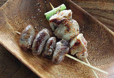 Barbecued chicken yakitori