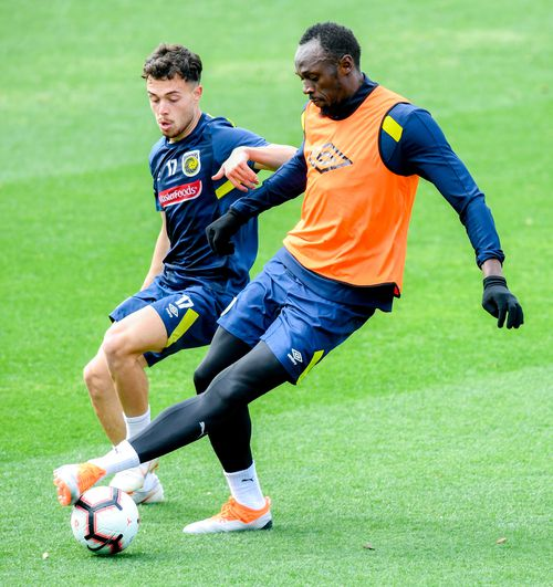 Bolt will be put through his paces in his first competitive match for the Mariners against Central Coast Select on Friday.