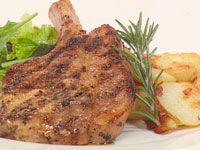 Pork cutlet with fennel, orange & rosemary – dinner for one