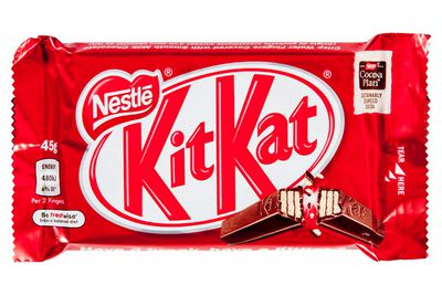 KitKat 45g: about 5.5 teaspoons of sugar