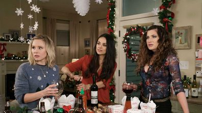 Bad Moms Christmas movie scene in kitchen