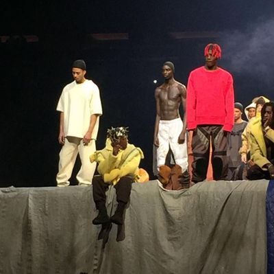 Ian Connor, stylist and Kanye West's latest muse, appeared in the line-up.