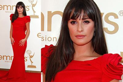 "Like a red rose growing out of the red carpet. Stunning!<p><br/><br/><p><a href=""http://www.yourtv.com.au/slideshow/190233/2011-emmy-award-winners.slideshow"">Go to TVFIX to find out who won!</a></p>"