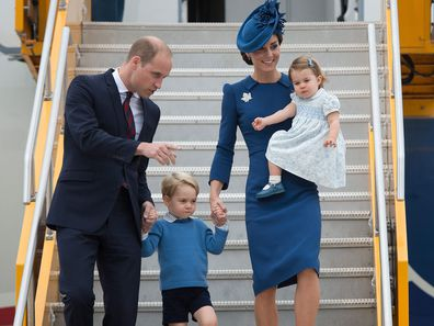 Prince William, Kate Middleton, Prince George and Princess Charlotte during the royal tour of Canada in 2016.
