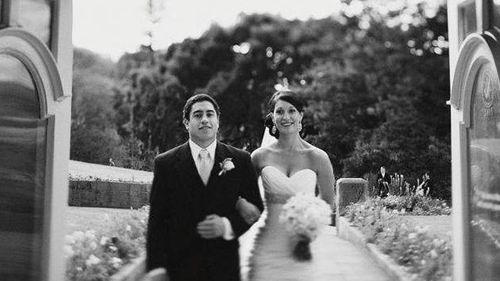 Rye Hunt giving his sister Romany away on her wedding day. (Romany Brodribb)