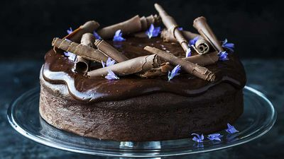 "<p>Recipe: <a href=""http://kitchen.nine.com.au/2017/07/06/15/41/decadent-chocolate-cake"" target=""_top"">Kirsten Tibballs' decadent chocolate cake</a></p> <p>More: <a href=""http://kitchen.nine.com.au/2016/06/06/18/40/treat-yourself-to-our-favourite-chocolate-recipes"" target=""_top"">chocolate recipes</a></p>"