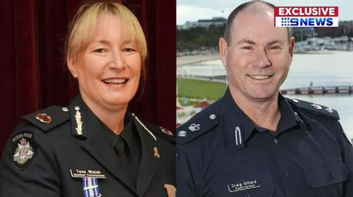 Assistant Commissioner Tess Walsh, left, and Superintendent Craig Gillard, right. (File)
