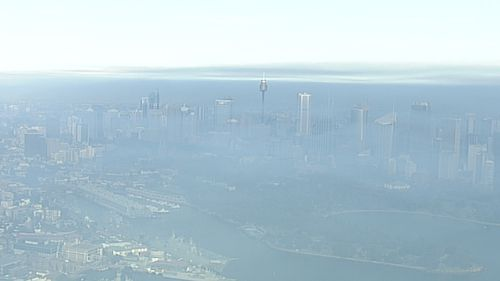 The city has been blanketed with a thick layer of smoke from hazard reduction burning.