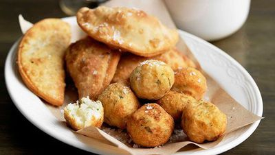 """Recipe: <a href=""""http://kitchen.nine.com.au/2016/05/16/11/36/salt-cod-croquettes-with-spicy-tomato-sauce"""" target=""""_top"""">Salt cod croquettes with spicy tomato sauce</a>"""