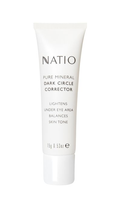 "<a href=""http://natio.com.au/makeup-concealers-and-correctors/pure-mineral-dark-circle-corrector"" target=""_blank"">Pure Mineral Dark Circle Corrector, $14.95, Natio</a>"