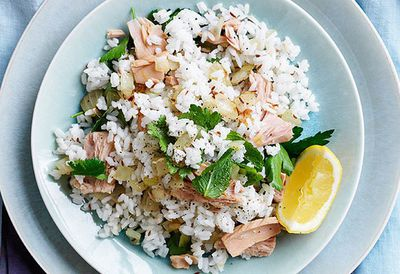 """Recipe: <a href=""""http://kitchen.nine.com.au/2016/05/05/10/45/pohs-spiced-tuna-and-coriander-rice"""" target=""""_top"""">Poh's spiced tuna and coriander rice</a>"""