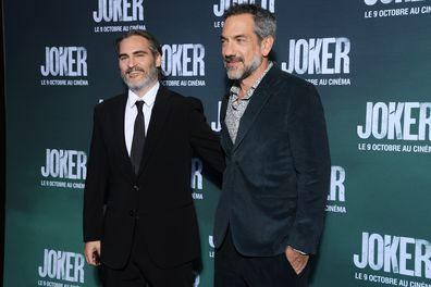 Joaquin Phoenix, director Todd Phillips, Joker, movie premiere
