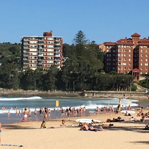 In Sydney's northern beaches, the temperature was still 36 degrees at 5.30pm.