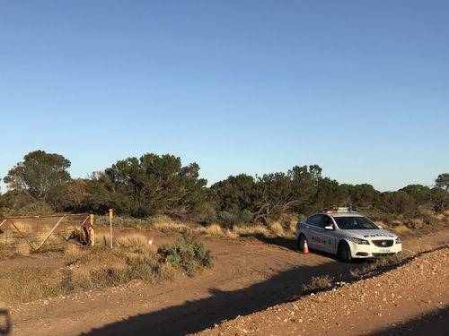 Police officers at Telowie Beach, more than 200km north of Adelaide. Picture: Southern Cross Austereo
