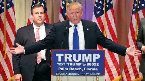 Donald Trump speaks in Florida after Super Tuesday voting. (AAP)