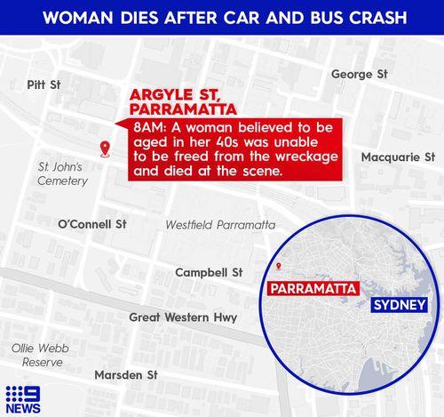 Seorang wanita tewas dalam kecelakaan di Parramatta.