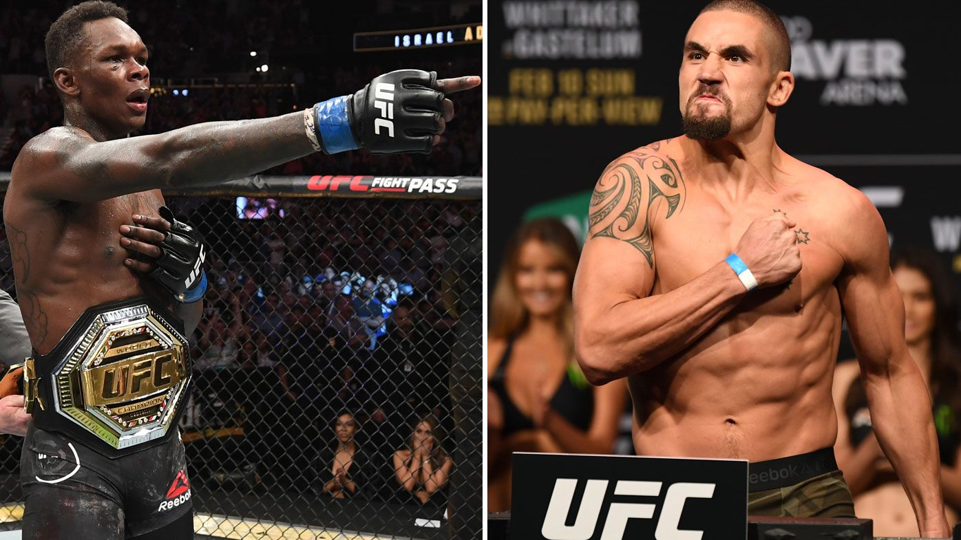 Adesanya has Whittaker firmly in his sights