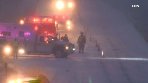 Across Arkansas, Ohio and Indiana, at least five people have died in road-related incidents on icy roads.