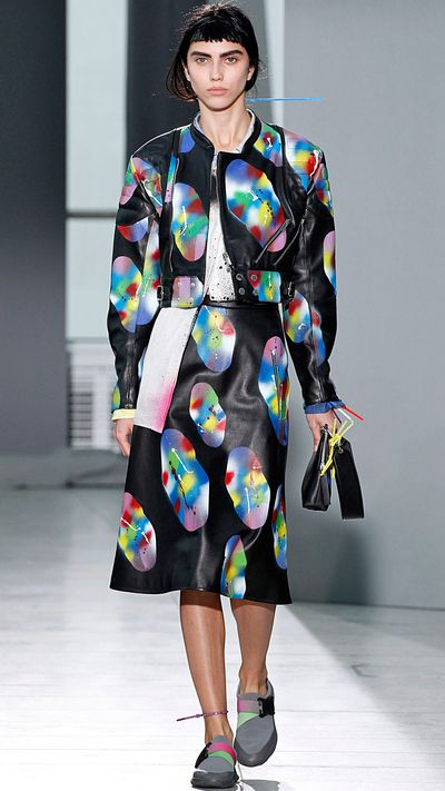 Christopher Kane sent technicolour dreams money can buy down the runway for SS16, and it's likely his avant garde use of print and colour will make for one of the best Met Gala looks of 2016.