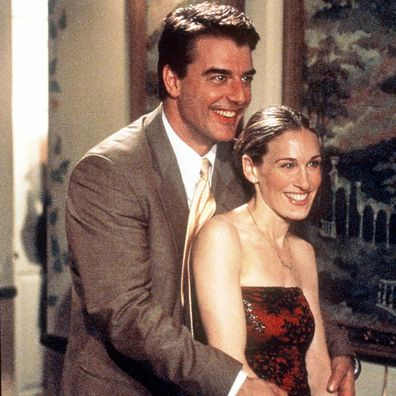 """Chris Noth and Sarah Jessica Parker star in """"Sex And The City"""" episode in 1999."""