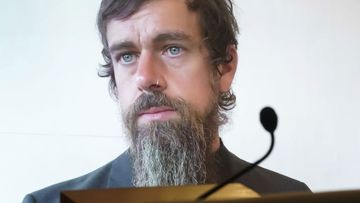 Twitter CEO Jack Dorsey testifying before Congress.