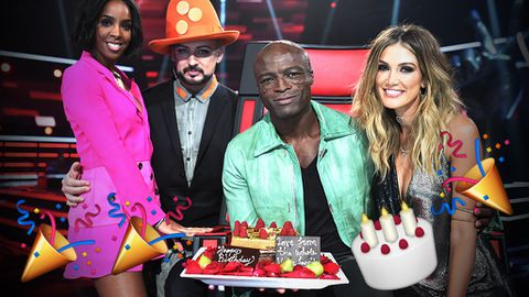 Boy George & Seal kiss and make up over a slice of birthday cake