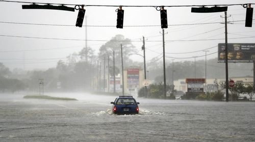 A flooded street in Brunswick, Georgia. (AP)