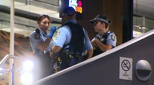 Police at the scene in Hornsby. (9NEWS)