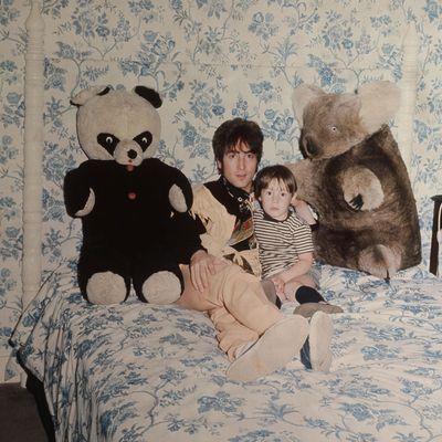 <p>Julian Lennon and John Lennon</p>