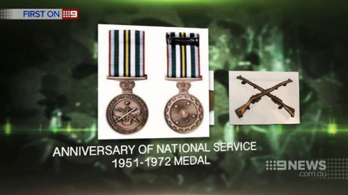 National Service medals were stolen. (9NEWS)