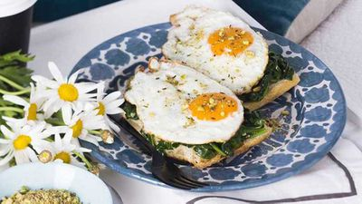 "<a href=""http://kitchen.nine.com.au/2017/06/02/14/23/fried-eggs-with-pistachio-dukkah"" target=""_top"">Fried eggs with pistachio dukkah</a> recipe"
