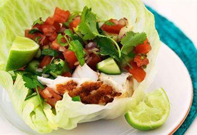 Fish lettuce 'tacos'