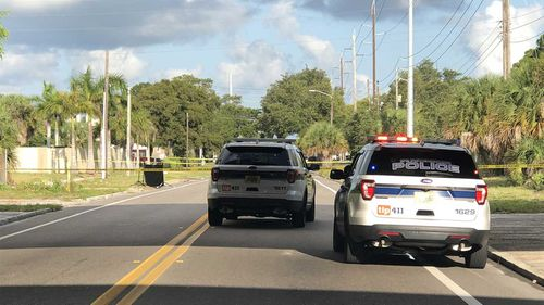 A jogger in St Petersburg, Florida, found a human head by the side of the road.