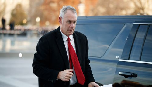 Interior Secretary Ryan Zinke is the subject of a DOJ investigation.