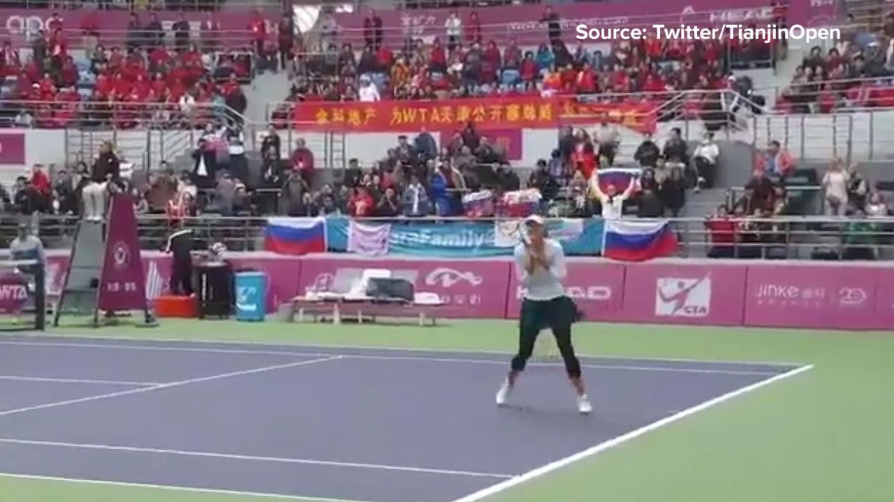 Sharapova wins first WTA title since drug ban