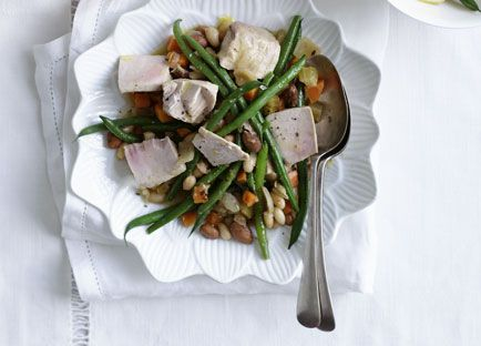 Confit tuna and beans