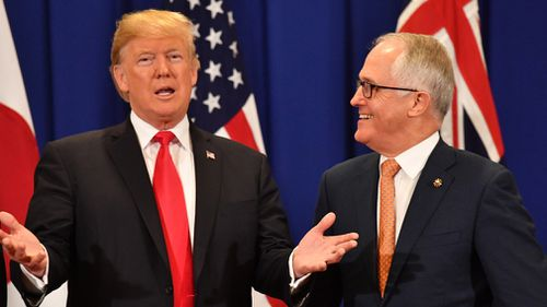 Things have improved since Donald Trump and Malcolm Turnbull's first tense phone conversation. (AAP)