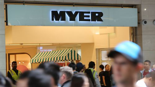 Australian retail giants such as Myer are currently facing a sales environment similar to the Global Financial Crisis, one industry representative has said. Picture: AAP.
