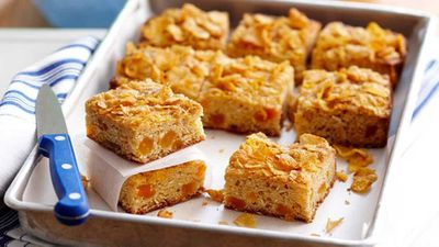 "Recipe: <a href=""http://kitchen.nine.com.au/2016/05/16/13/06/apricot-squares"" target=""_top"">Apricot squares</a>"