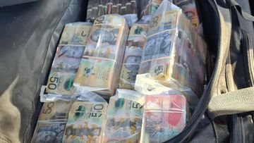 Cash seized on the Gold Coast