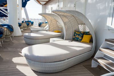 After all the excitement on the pool deck, you wouldn't be blamed for taking a nap on one of these comfy deck chairs.