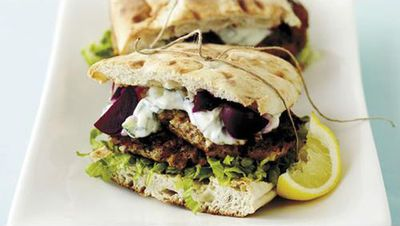 "<a href=""http://kitchen.nine.com.au/2016/05/17/19/06/lamb-patties-with-beetroot-and-tzatziki"" target=""_top"">Lamb patties with beetroot and tzatziki<br> <br> </a>"