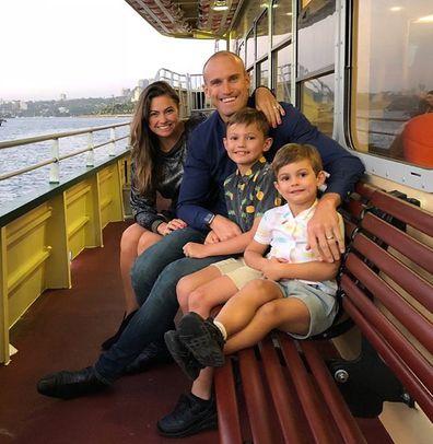 Ryan 'Fitzy' Fitzgerald, wife Belinda, sons Hewston and Lennox