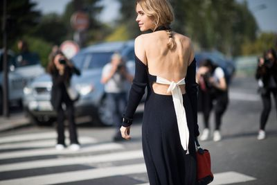 <strong>Céline</strong>'s tie-back knit dresses